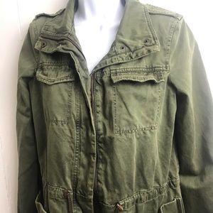 Trafaluc military green jacket